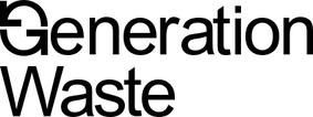 Logotyp svart Generation Waste