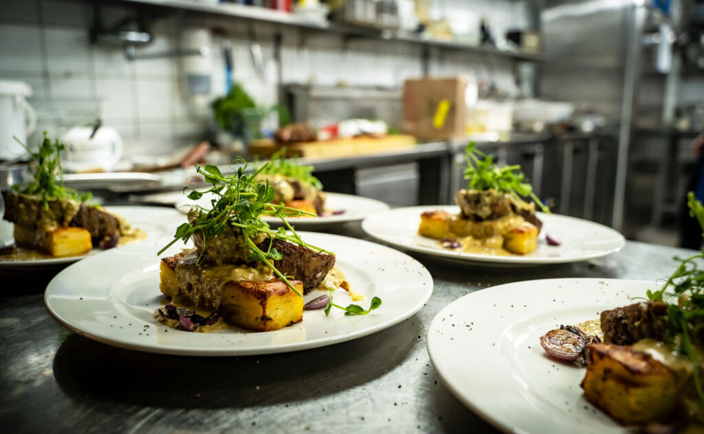 Snögubben middag köket fisk